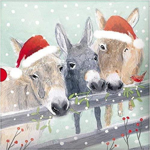 arten, Motiv: Mooey Christmas/Esel, 16 Stück, 2 Designs ()