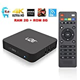 Smart Tv Box,U2C X Pro Android 7.1 OS Tv Box 2G RAM 8G ROM with Amlogic S905X Quad Core 4K 3D Wifi [Pure Version] image