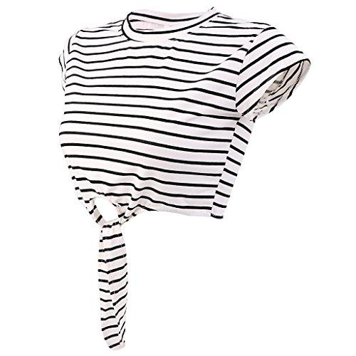MagiDeal Donne Camicetta Top T-shirt Maglietta Casuale Canotte Camicie Gilet da Estate Nero