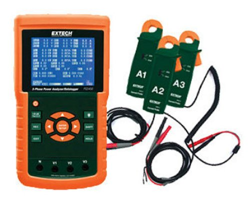 Power Quality Meter Analyzer (Extech PQ3450–2 200 A 3-Phasen-Power Analyzer und Datenlogger Kit)
