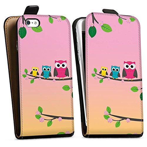 Apple iPhone X Silikon Hülle Case Schutzhülle Eule Eulen Owl Downflip Tasche schwarz