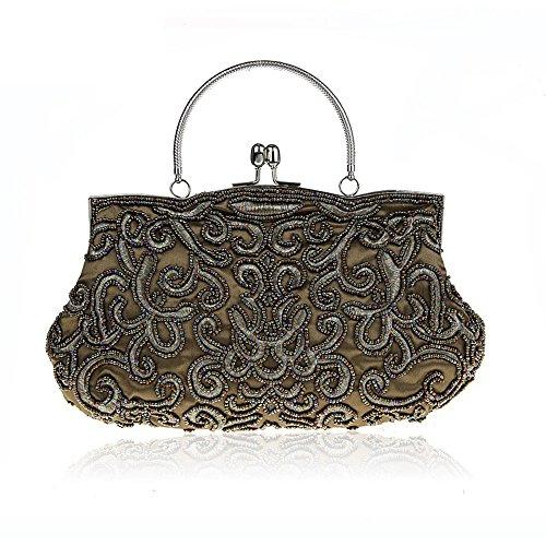 Handtasche Vintage Seed Perlen Pailletten weichen Clutch Bag Abend Handtasche 9 Farbe erhältlich von Harson&Jane (Grün) (Tasche Perlen Vintage Abend)