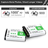 NP-BX1 ENEGON Replacement Battery (2-Pack) and Rapid Dual Charger for Sony NP-BX1, NP-BX1/M8 and Sony Cyber-shot DSC-RX100,DSC-RX100M II,DSC-RX100 V,DSC-RX100 IV,DSC-RX100 VI,HDR-CX.