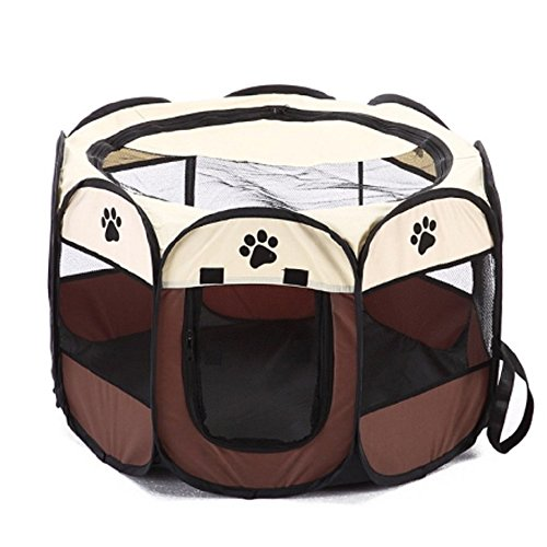 Systond Pet PlaypenDog Cage Crate Play Pen Cat Tents Foldable Puppy House Waterproof Dog Fence Kennel for Small Medium Large Dogs