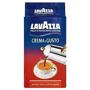 Lavazza Crema E Gusto, Café moulu, convient pour cafetière Moka, Lot de 10, 10 x 250g
