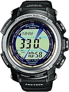 CASIO PRO TREK PRW-2000-1ER - Reloj unisex de cuarzo, correa de resina color negro (con radio, multifunción, altímetro, cronómetro) de Casio