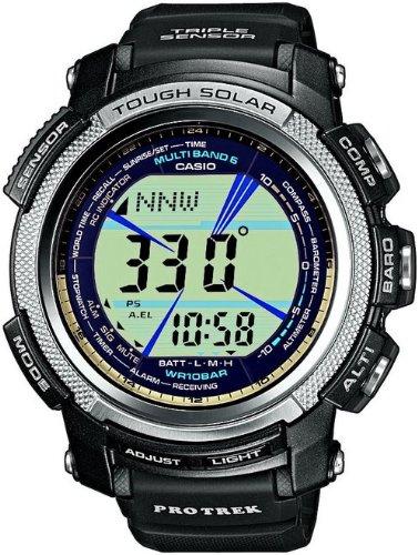 Casio Sport Unisex-Armbanduhr Pro-Trek-Funk-Solar-Kollektion Digital Quarz PRW-2000-1ER