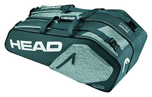 Head Core 6R Combo Tennisschläger Tasche, unisex, Core 6R Combo Anthrazit / Grau