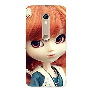 Delighted Tiny Baby Girl Multicolor Back Case Cover for Motorola Moto X Style