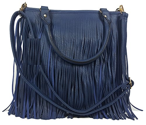GFM, Borsa a tracolla donna Style 4 - Medium D Blue (GHNL)