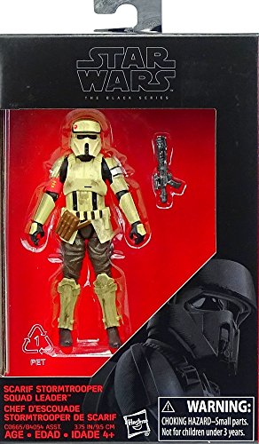 Star Wars: Rogue One, The Black Series, Scarif Stormtrooper Squad Leader Exclusive Action Figure, 3.75 Inches