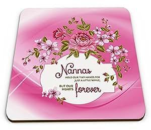 """Nannas für unsere kleinen Händen Floral """"glänzend mit Kaffeebecher und Untersetzer"""