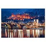 artboxONE Poster 30x20 cm Reise Heidelberg im Winter