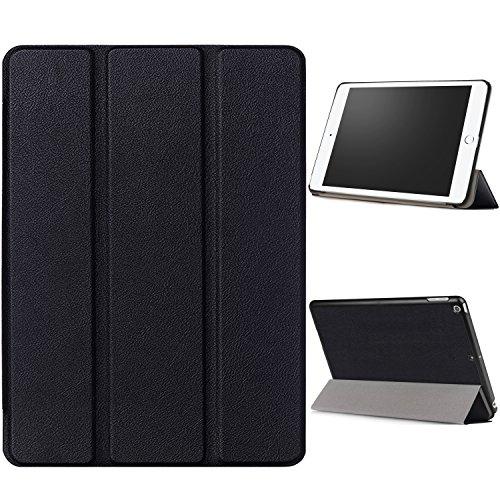 """WindTeco Hülle für Neu iPad 9.7 Zoll 2017 - Ultra Dünn Slim-Fit Smart Hülle Schutzhülle Tasche mit Einschlaf / Aufwach Funktion für New Apple iPad 9.7"""" IOS 10 Retina Display Tablet, Schwarz"""