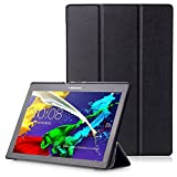 "Lenovo Tab 2 A10 / Tab3 10 Plus / Tab3 10 Business Cover - Custodia con Funzione Auto Sveglia / Sonno per Lenovo Tab 2 A10-30 / A10-70 / Tab3 10 Plus / Tab3 10 Business 10.1"" Tablet, Nero"
