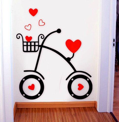 loterong-amore-auto-3d-acrilico-parete-tridimensionale-figurine-amore-romantico-sottofondo-camera-de