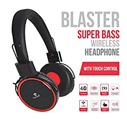 Tantra BLASTER: SUPER BASS Bluetooth/ Wireless + Wired (Two-in-one) Headphone with TOUCH CONTROL + 12 Hrs Playback + HD Deep Bass Music + Foldable Design + Self Adjusting Noise Isolation 1 Ultra Comfortable Cushions