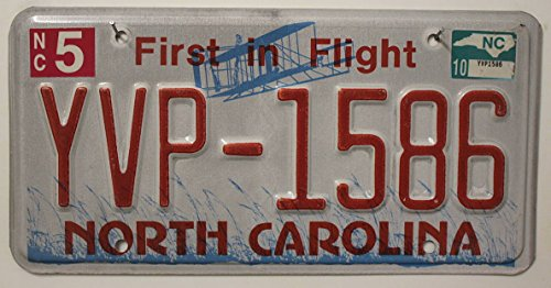 US Nummernschild NORTH CAROLINA Kennzeichen # USA License Plate # Auto - Schild