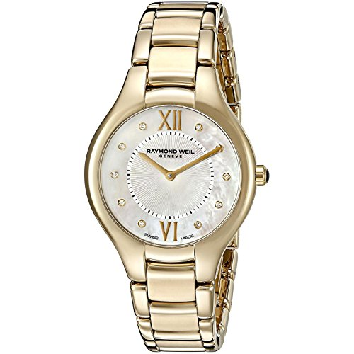 RAYMOND WEIL WOMEN'S NOEMIA 32MM GOLD PLATED CASE QUARTZ WATCH 5132-P-00985