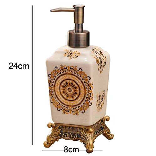 Im Europäischen Stil Keramik-Flasche Lotion Duschgel Flasche Harz Gedrückt Wird Kreative Heimat Hotel Liefert Handdesinfizierer Flasche,A - Stil-lotion-flasche