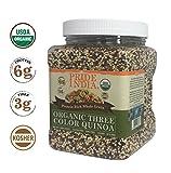 Pride Of India Organico Tre Colori proteina Quinoa Ricca di Cereali integrali, 1.5 libbre (24 Once) Barattolo