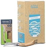 Coffret cadeau - Kit culture de pleurotes gris (Prêt à Pousser) + Couteau à champignons (Opinel n°8)