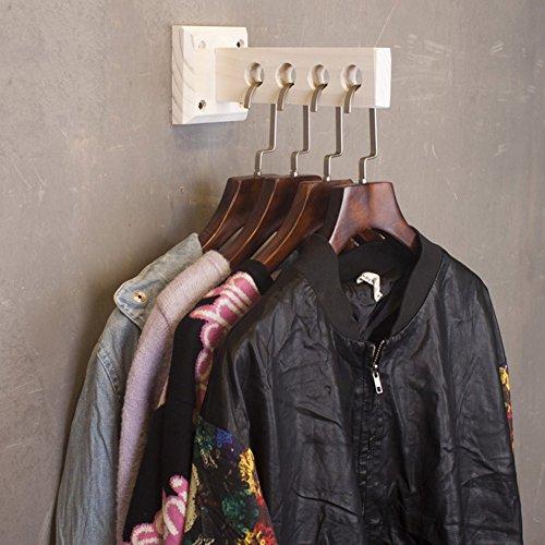 QiangDa Mur Porte-Manteau en Bois Mural Crochet À Vêtements avec 4 Trous pour La Maison Magasin De Vêtements Style Industriel Vintage, 10 X 23 X 10 Cm, 7 Couleurs Optionnel (Couleur : Blanc)