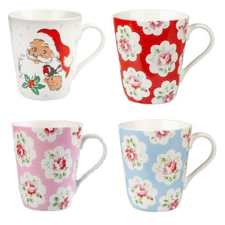 Cath Kidston Santa Merry Christmas Set Of 4 Stanley Mugs - Any Combination