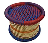 #5: Pushkar Handicraft Exclusive Product Cane Bar Stool for Indoor and Outdoor Furnishings 1-Piece (Multicolour, 17)