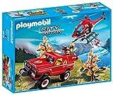 Playmobil City Action - 9518-Hélicoptère Et 4x4 De Pompiers City Action