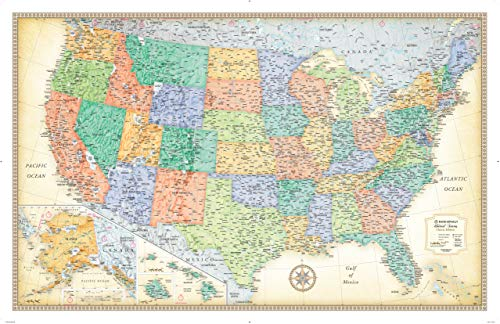 Rand McNally Classic United States Wall Map - Laminated (Rand Mcnally State Wall Maps)