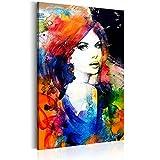 murando Bilder 60x90 cm - Leinwandbilder - Fertig Aufgespannt - 1 Teilig - Wandbilder XXL - Kunstdrucke - Wandbild - Poster Porträt Gesicht Frau h-B-0018-b-a