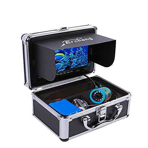 YHONG-FishFinder Fischfinder Kamera 30M Unterwasser HD 1000TVL für EIS/Sea/Fluss Angeln mit 7 Zoll LCD Monitor (Wolf-kamera Angeln)