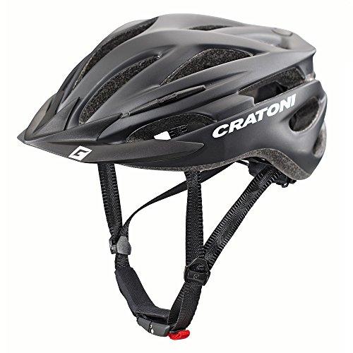 Cratoni Pacer+ Fahrradhelm, Black Matt, L-XL (Gedruckt Deckt Liege)