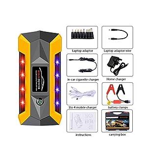 gfjfghfjfh Arrancador portátil de 20000 mAh con compresor, Cargador de batería, Dispositivo de Arranque del vehículo…