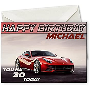 Bmw personalised birthday card large a5 free envelope car amazon ferrari personalised birthday card large a5 free envelope car bookmarktalkfo