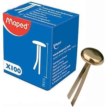 Musterbeutelklammern rundkopf  Wedo 1123000 Musterbeutelklammern (Rundkopf, Schachte, vernickelte ...