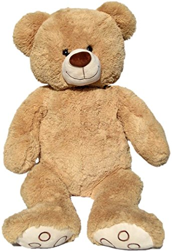 Wagner 9025 - Riesen XXL Teddybär 100 cm groß in hell-braun - Plüschbär Kuschelbär Teddy Bär