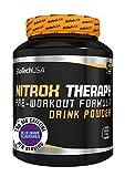 Nitrox Therapy Blue Grape 680g - Booster de pré-entraînement professionnel - BiotechUSA