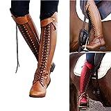 XLBHSH Botte Femme Boots Bottines Steampunk Gothique Vintage Style RéTro Boucle Punk Bottes De Combat MilitaireM Chaussures Femme Bottes Et Bottines Kitten-Heel Bottes Cuissardes,01,41