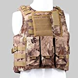 Hld Camo Tactical Airsoft Assault Combat Molle Plate Carrier Vest High-Quality Military Army Paintball