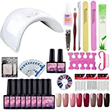 Best kit de uñas de gel - Saint-Acior 36W UV/LED Lámpara Esmaltes Semipermanentes Esmaltes de Review