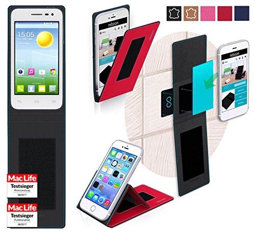 reboon Hülle für Alcatel OneTouch Pop S3 Tasche Cover Case Bumper | Rot | Testsieger