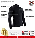 X-Bionic Energy Accumulator 4.0 Turtle Neck Long Sleeves, Strato Base Camicia Funzionale Uomo, Black/Black, 2XL