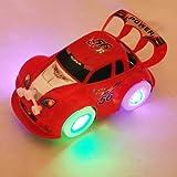 HUAYANG Coole Elektro Spielzeug Auto Automatische Lenkblink Musik Racing Car (zufällige Farbe)