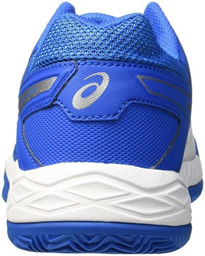 Asics Gel Da Gioco Maschile 6 Scarpe Da Tennis In Argilla Multicolore (bianco / Blu Directoire / Argento)