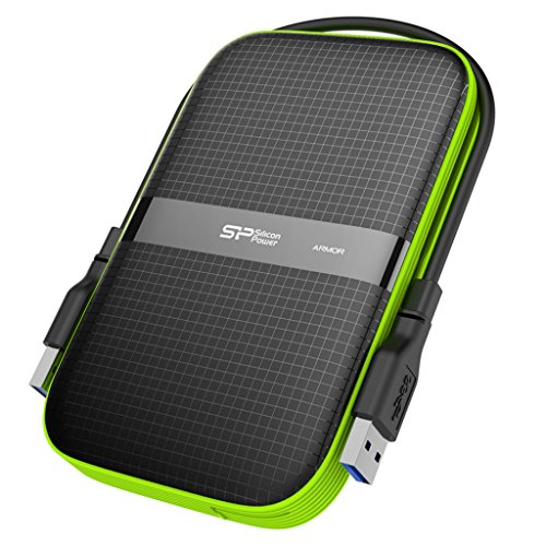 Silicon Power 2TB Rugged Armor A60 Shockproof Water-Resistant 2.5-Inch USB 3.0 Portable External Hard Drive, Black (SP020TBPHDA60S3K)  available at amazon for Rs.11695