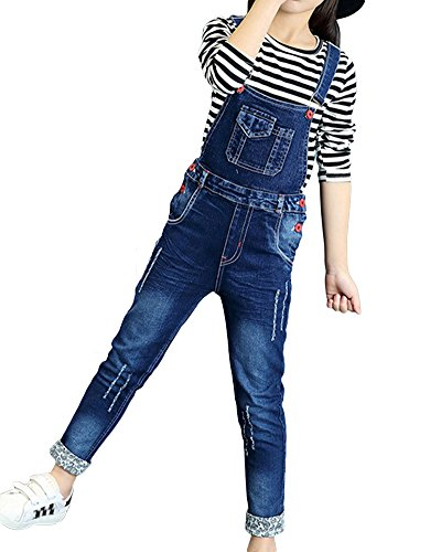 ShiFan ShiFan Mädchen Kinder Latzhose Freizeit Jumpsuit Lang Overall Jeans Mit Hosenträger Wie Bild 120