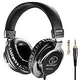 Neewer NW-3000 Geschlossene Studio-Kopfhörer, 10Hz-26kHz Leichte dynamische Kopfhörer mit 3 Metern Kabel, 3,5 mm und 6,5 mm Stecker, geringe Geräusche für die Schätzung von Musik, Videos anschauen, Spiele spielen, Aufnehmen