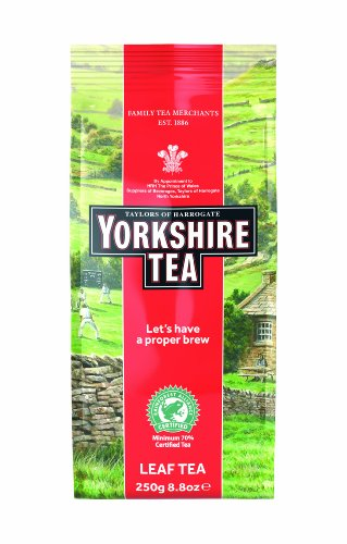 Yorkshire Tea Traditional Loose Tea Leaf 250 g (Pack of 6)